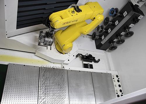 Changement automatique des outils et des meules